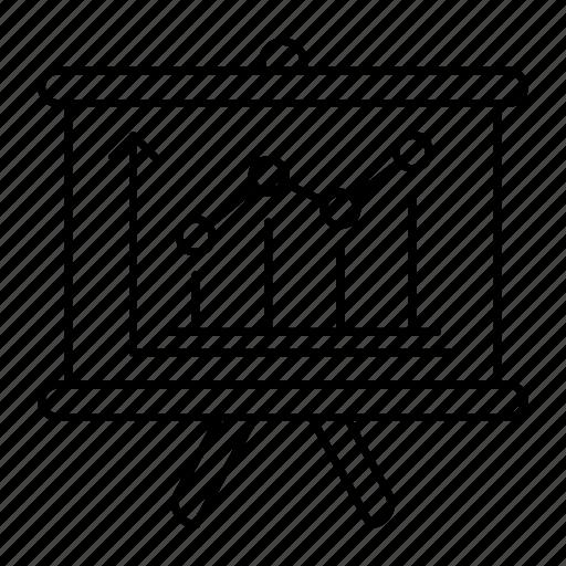 analytic, chart, graph, presentation icon