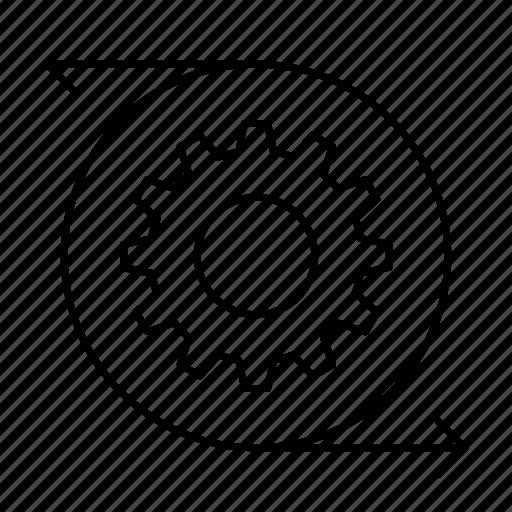 configuration, gear, reload, setting icon