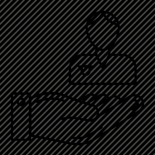 avatar, employee, hand, user icon