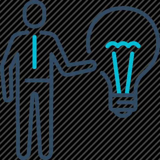 bulb, business, creative, idea, smart icon