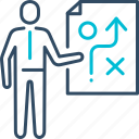 business, finding, solution, strategy icon