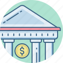 bank, banking, business, finance, financial, financial institution, treasury icon