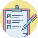 checklist, clipboard, document, itemlist, list, page, text icon