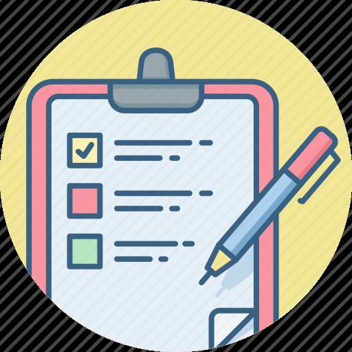 checklist, clipboard, document, itemlist, list, page, text icon