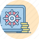 bank, locker, money, office, safe, security icon