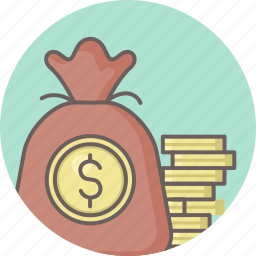 coins, currency, dollar, finance, money, payment icon