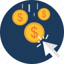 business, buy, click, dollar, money, revenue icon