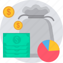 fund, funds, growth, invest, investment, loan, money icon