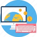 business, deal, keyboard, monitor, transaction icon