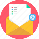 business, cover, document, email, envelope, letter, sheet icon