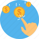 business, click, growth, money, ppc, revenue icon