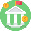 bank, finance, financial, institution, treasure, treasury icon