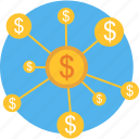 cycle, dollar, money, rotation, sequence icon