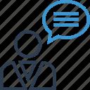 chat, money, talk, thinking icon