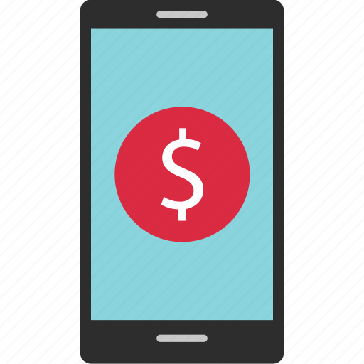 banking, cell, dial, dollar, mobile, phone, sign icon