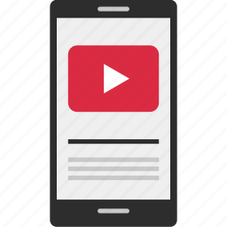 cell, phone, upload, video, youtube, youtuber icon