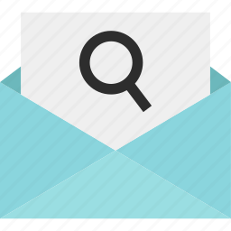 email, envelope, fin, look, mail, search, send icon