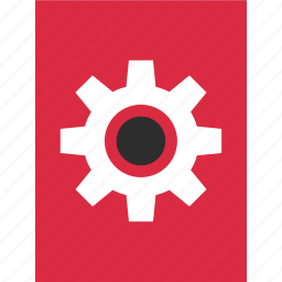 data, gear, layout, page, report, rotate, work icon