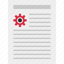 annual, business, gear, graph, layout, page, report icon