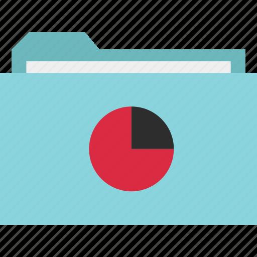 archive, chart, data, folder, graph, pie, report icon