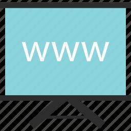 board, learn, presentation, teach, web, website, www icon