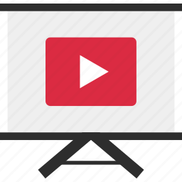 media, play, presentation, tube, you, youtube, youtuber icon