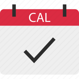 appointment, cal, calendar, check, mark, ok, reminder icon