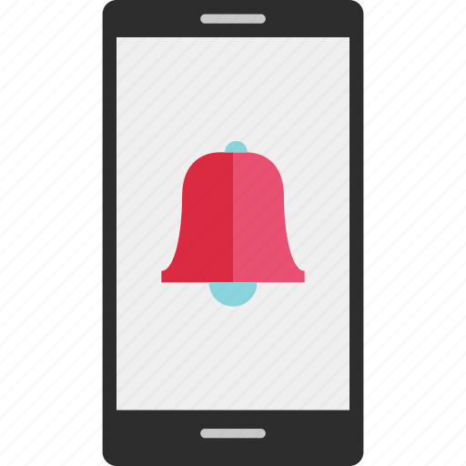 bell, cell, mobile, online, phone, reminder icon