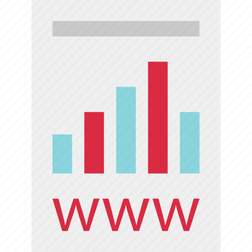 annual, business, data, online, report, website, www icon