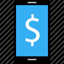 business, data, dollar, money, online, sign icon