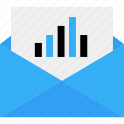 analytics, analyze, business, data, email, mail, online icon