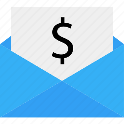 business, data, dollar, email, mail, online, sign icon