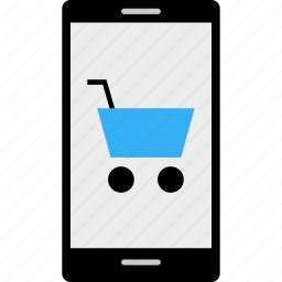business, cart, cell, data, money, online, shopping icon