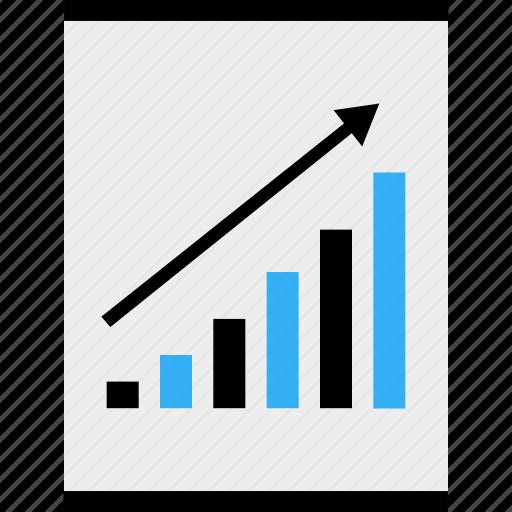 analytics, arrow, business, data, money, online, up icon