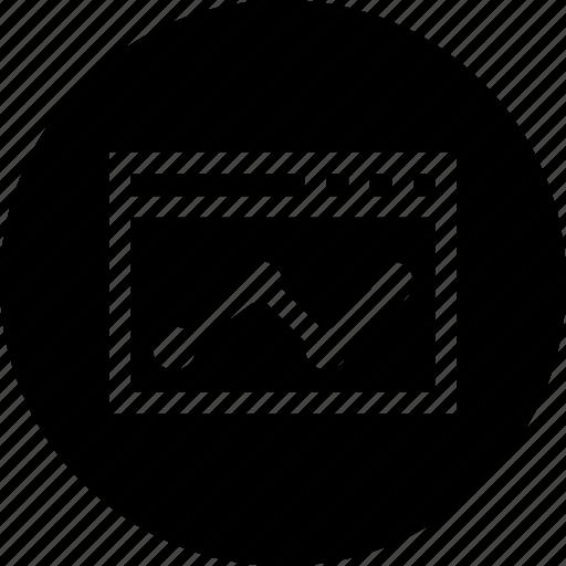 analysis, chart, digital, graph, marketing, window icon
