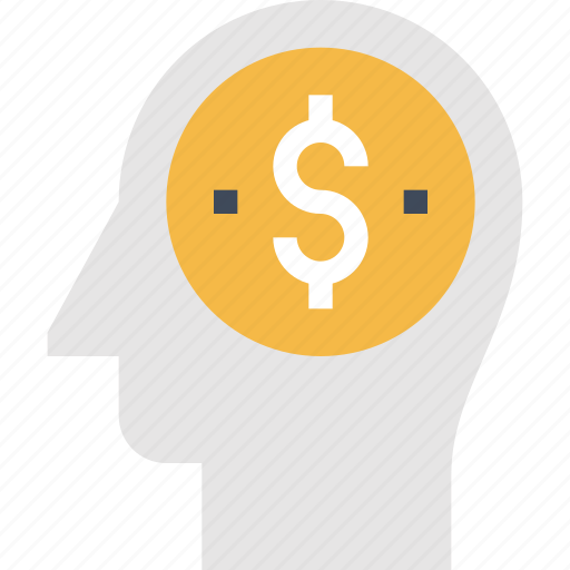 business, head, human, management, mind, money, thinking icon