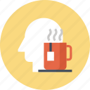 coffee, head, human, leisure, mind, relax, thinking icon