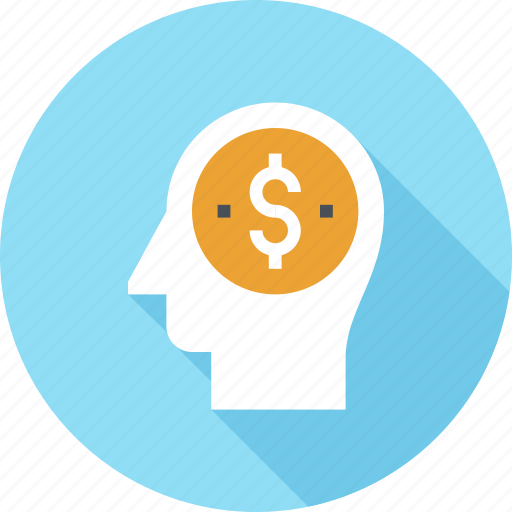Business, head, human, management, mind, money, thinking icon - Download on Iconfinder