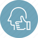 chart, good, head, human, job, like, mind icon