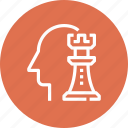chess, game, head, human, mind, strategy, thinking icon