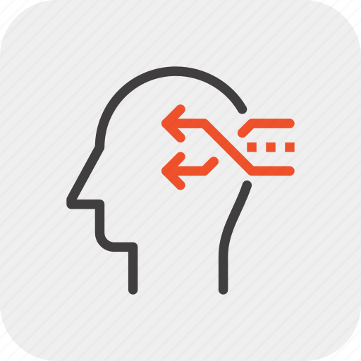 change, head, human, mind, shuffle, thinking, transformation icon
