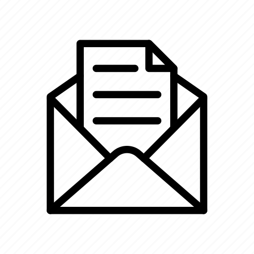 Envelope, mail, message, open, letter icon - Download