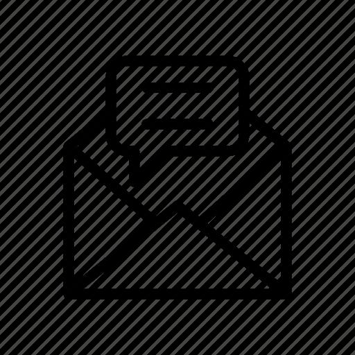 bubble, envelope, mail, message, open icon