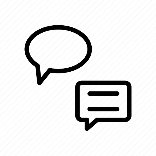 Conversation, discussion, bubble, messages, chat icon