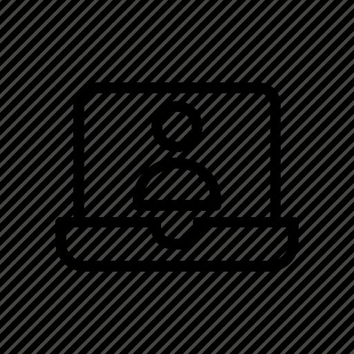 account, computer, laptop, login, profile icon