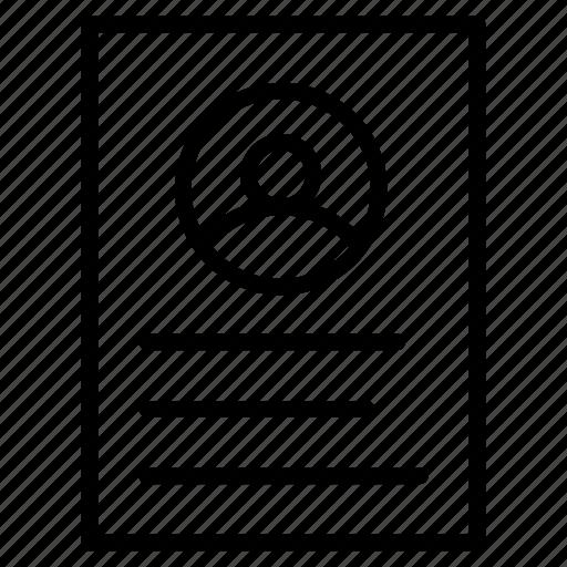 cv, document, resume, sheet icon