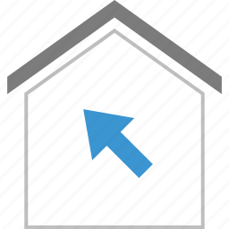 arrow, home, mouse, track icon