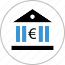 bank, banking, euro, money, sign icon