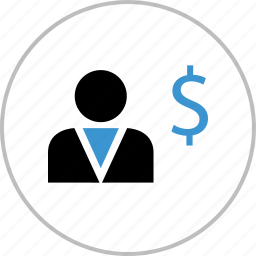 boss, dollar, profile, sign, think, user icon
