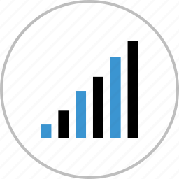 business, chart, data, graph, growing, report icon